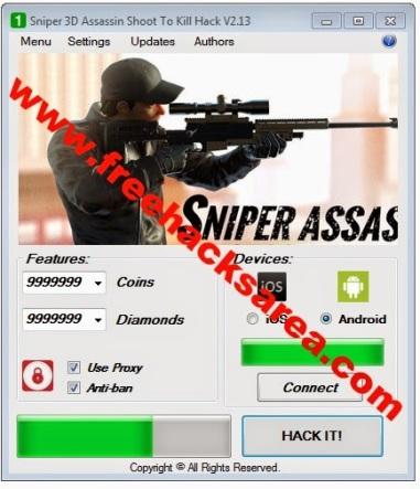 hack sniper 3d assassin ios